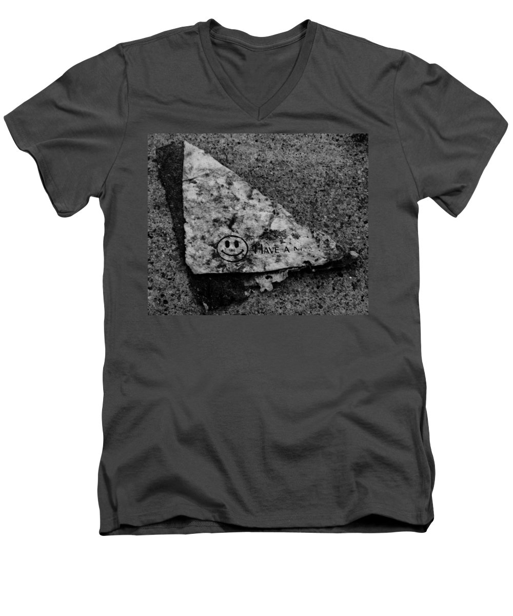 Debris Men's V-Neck T-Shirt featuring the photograph Have A Nice Day by Angus Hooper Iii