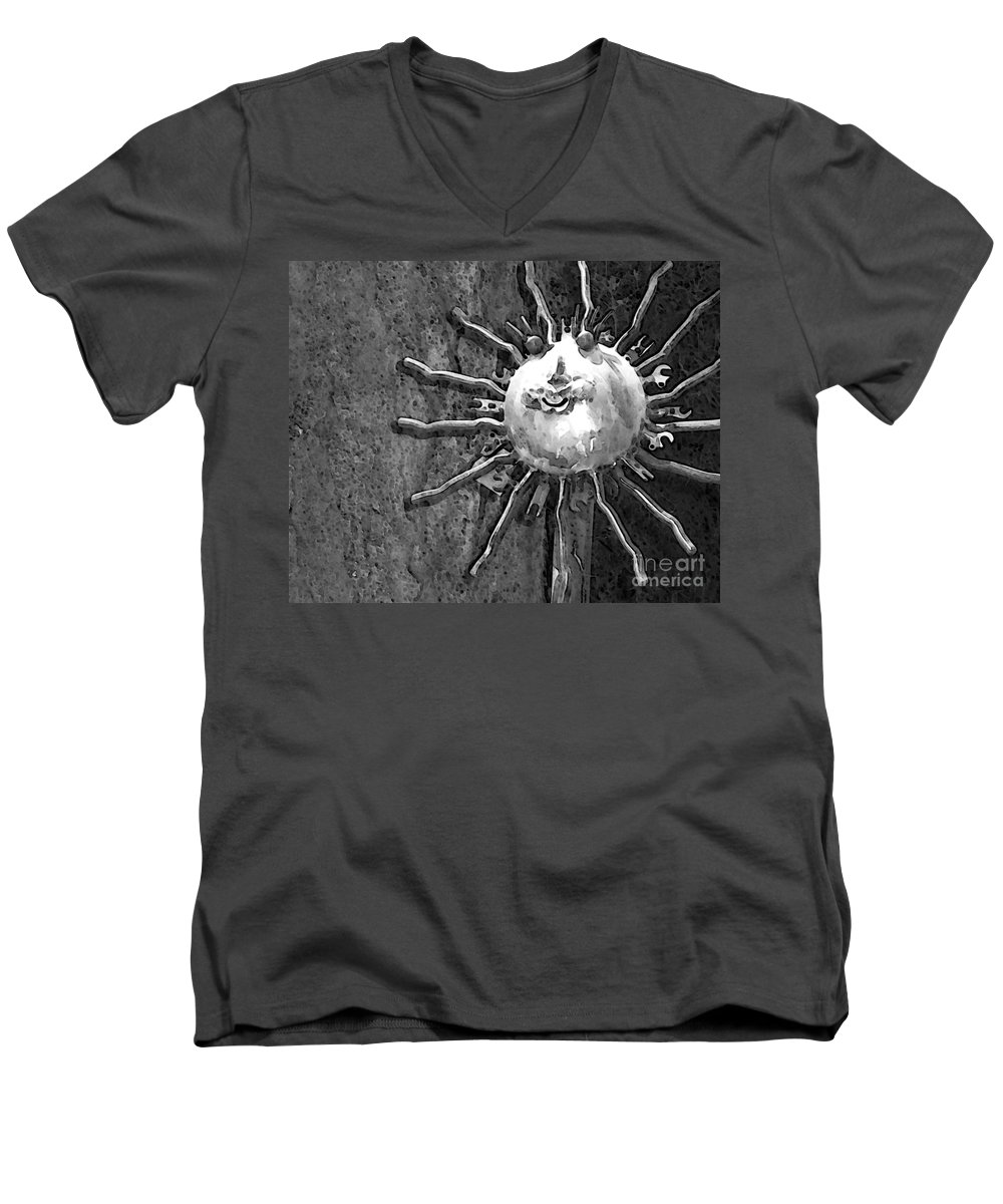 Sun Men's V-Neck T-Shirt featuring the photograph Here Comes The Sun by Debbi Granruth