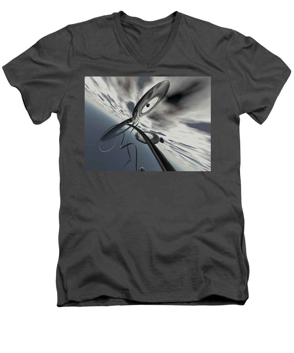 Scott Piers Men's V-Neck T-Shirt featuring the painting Id2a by Scott Piers