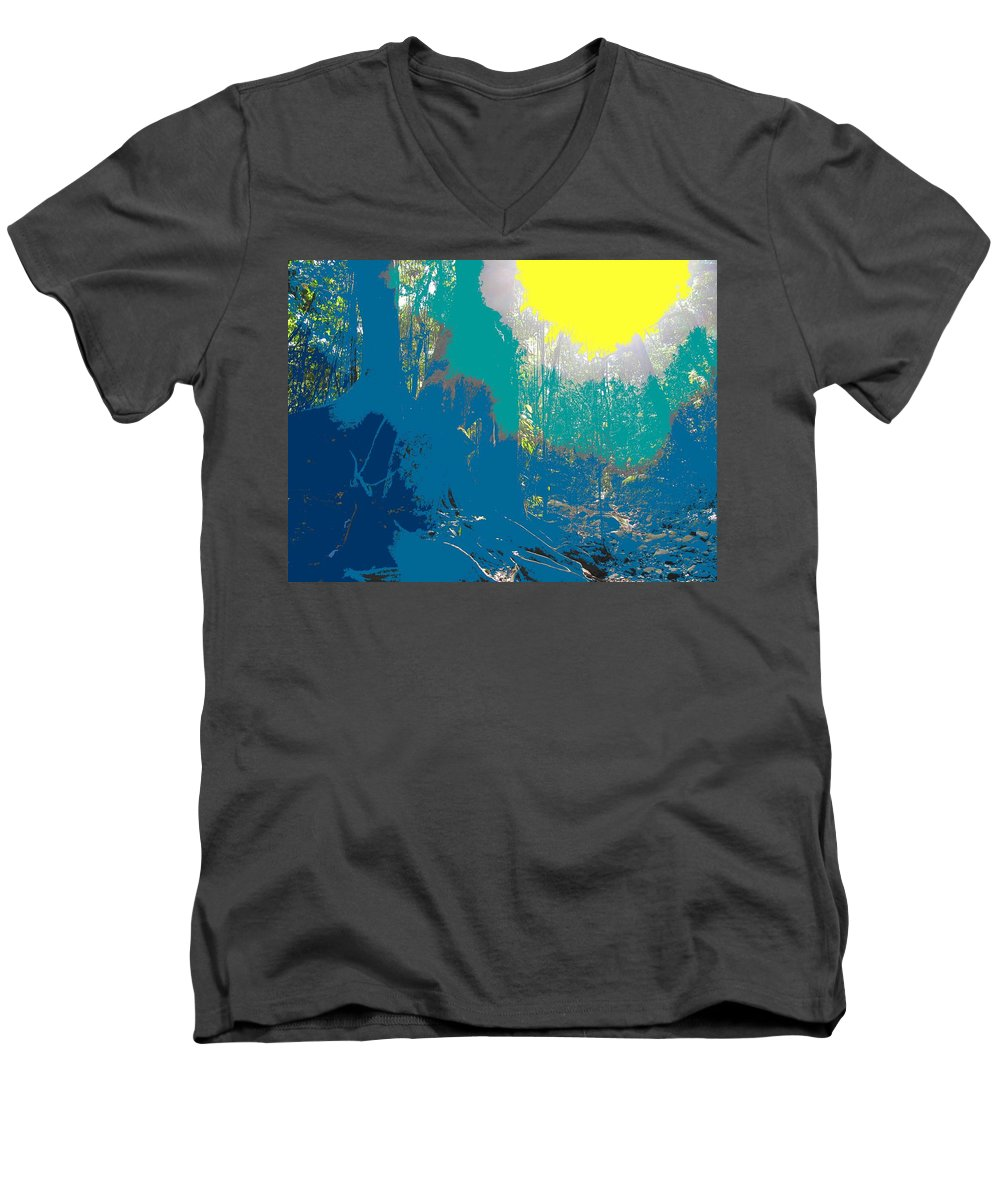 Rainforest Men's V-Neck T-Shirt featuring the photograph In The Rainforest by Ian MacDonald
