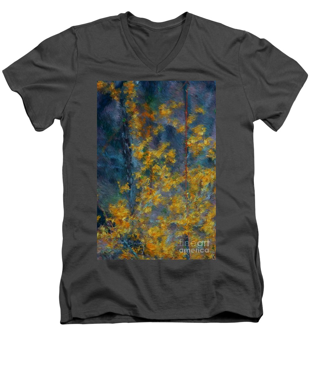 Men's V-Neck T-Shirt featuring the photograph In The Woods by David Lane