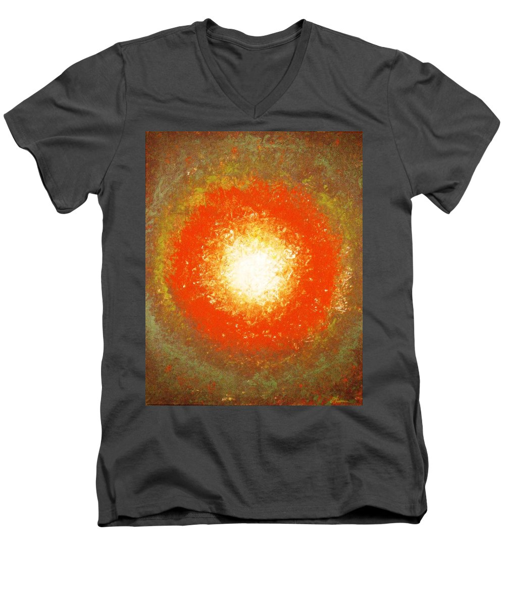 Original Men's V-Neck T-Shirt featuring the painting Inception by Todd Hoover