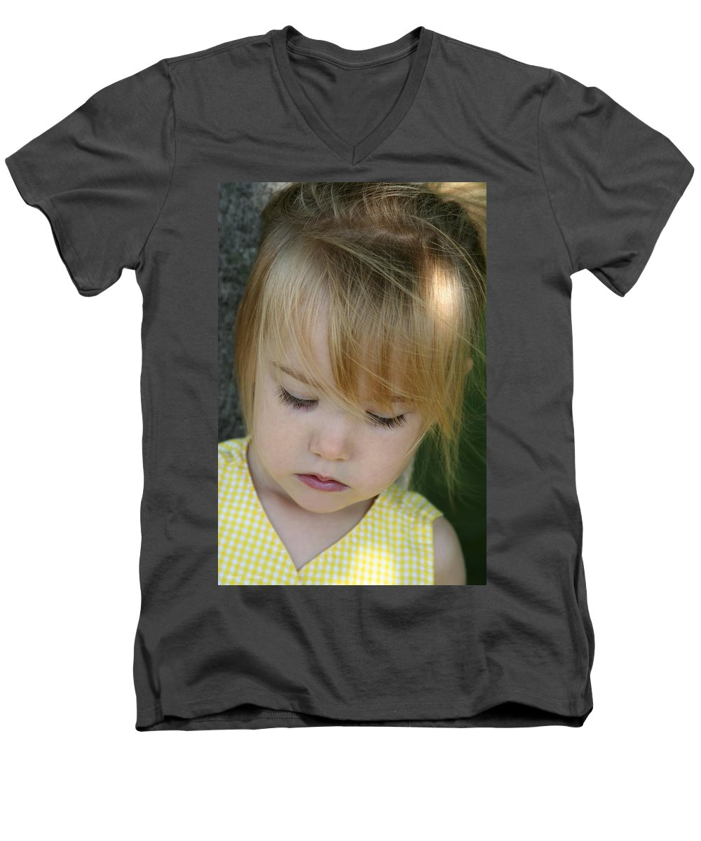 Angelic Men's V-Neck T-Shirt featuring the photograph Innocence II by Margie Wildblood