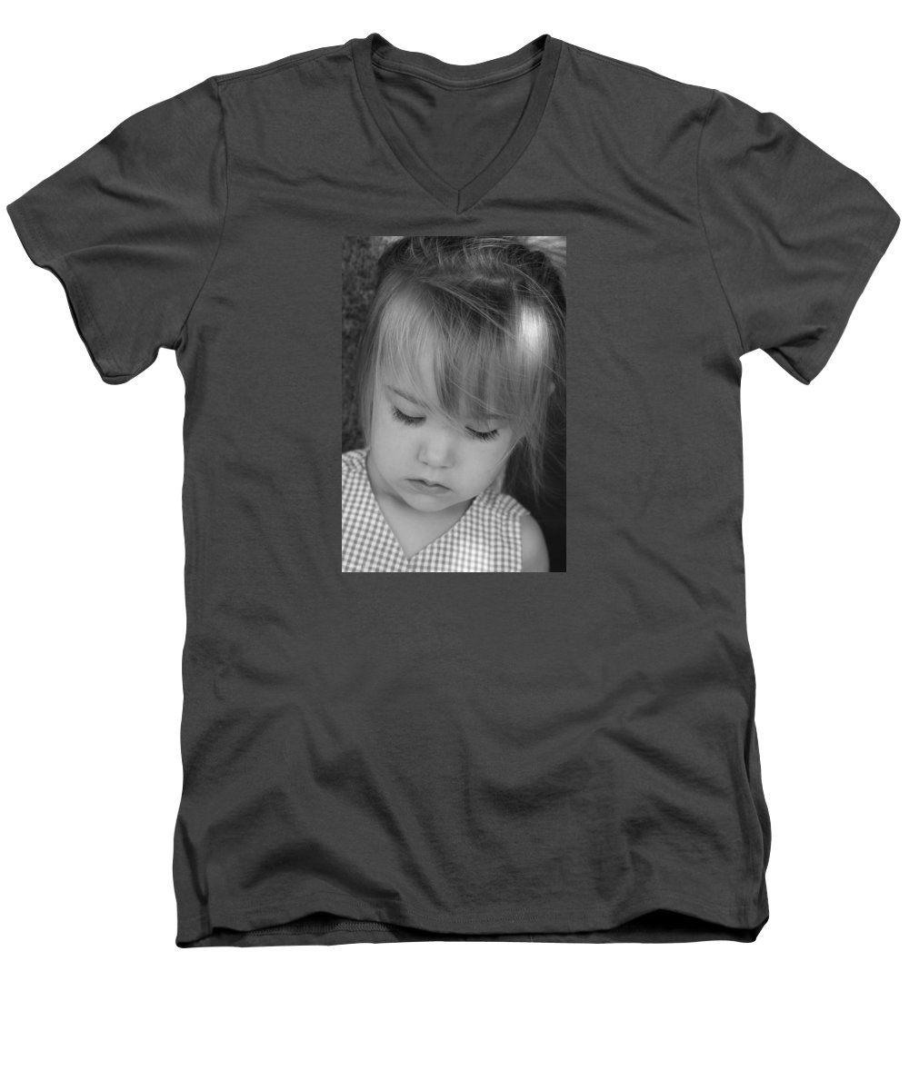 Angelic Men's V-Neck T-Shirt featuring the photograph Innocence by Margie Wildblood
