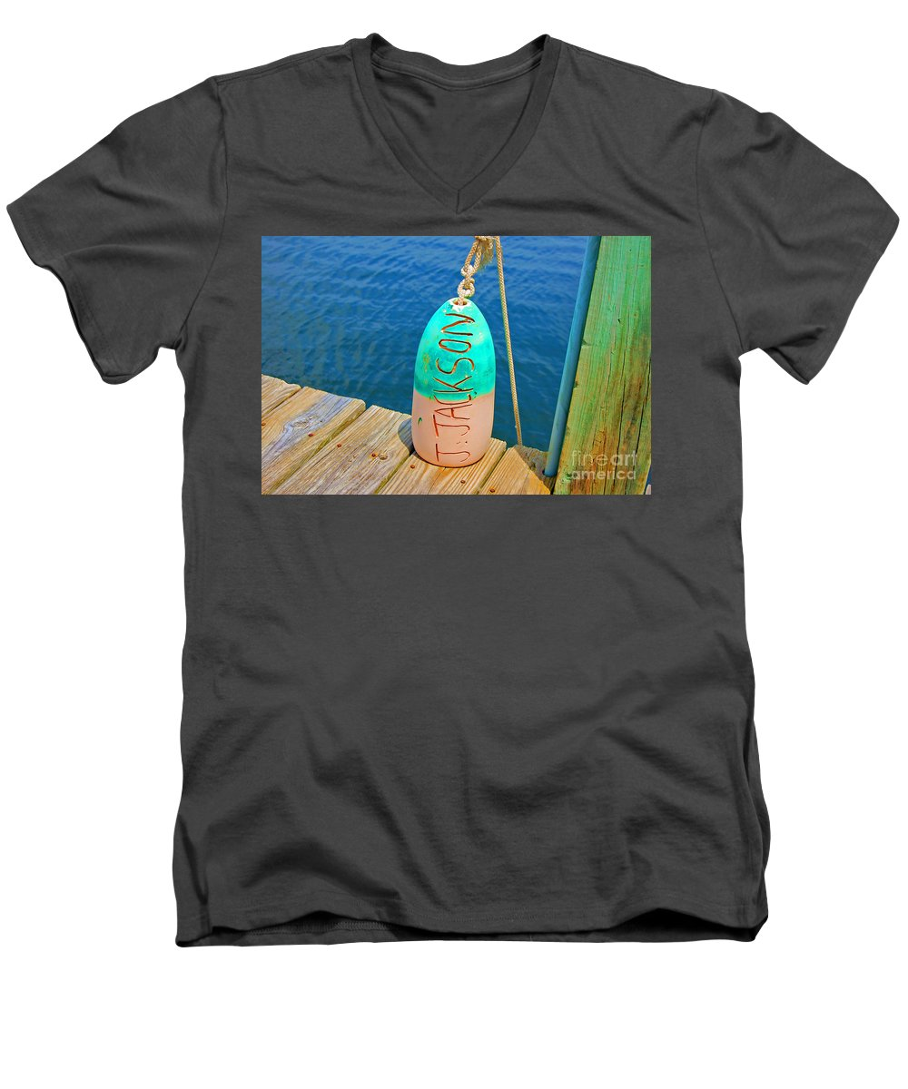 Water Men's V-Neck T-Shirt featuring the photograph Its A Buoy by Debbi Granruth