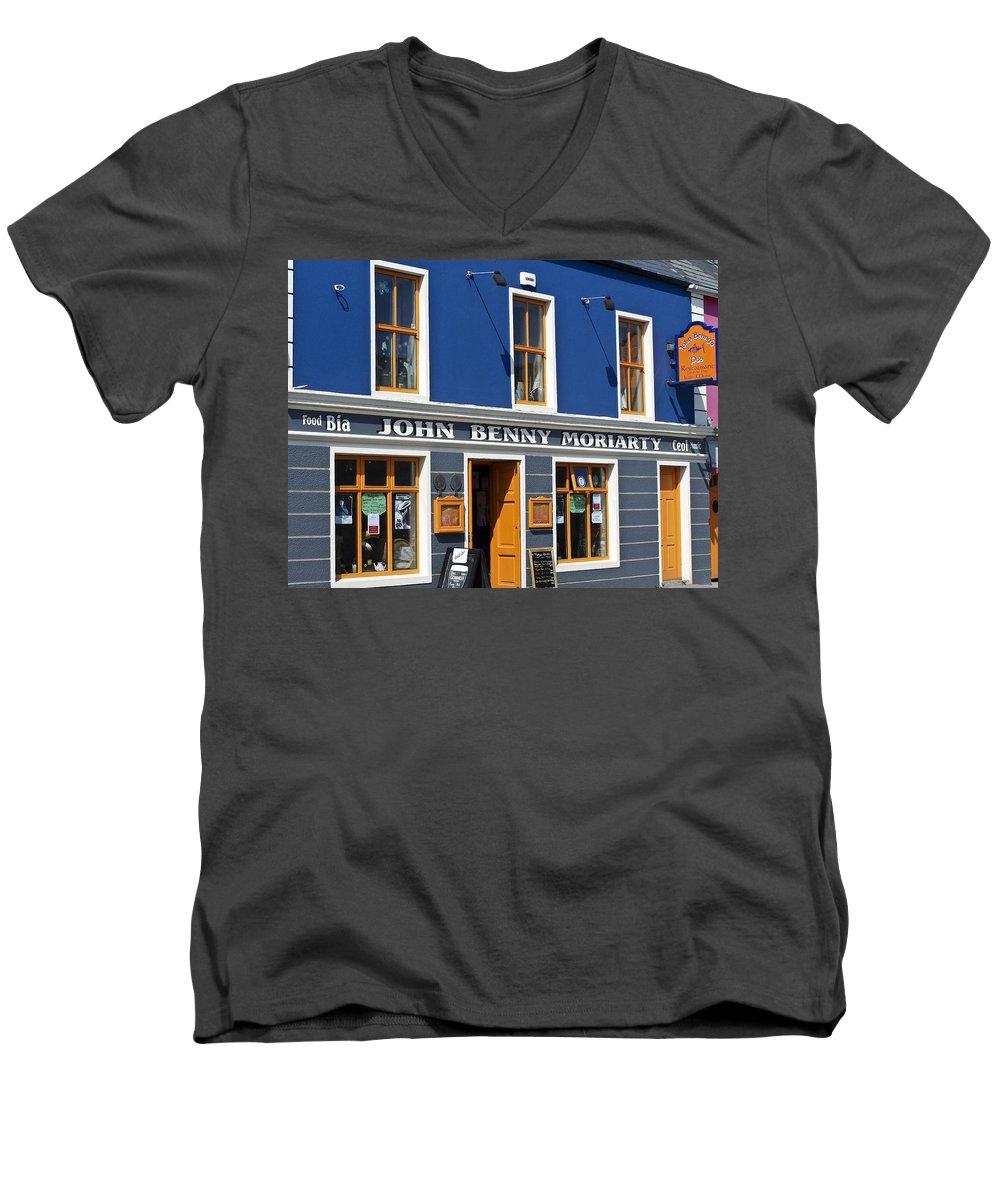 Irish Men's V-Neck T-Shirt featuring the photograph John Benny by Teresa Mucha