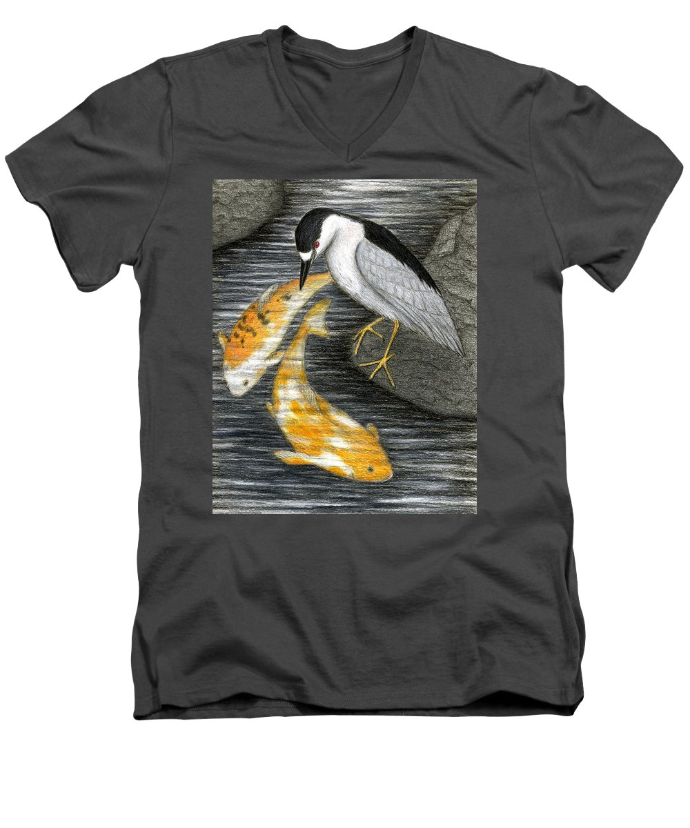 Art Men's V-Neck T-Shirt featuring the painting Keep Dreaming by Don McMahon