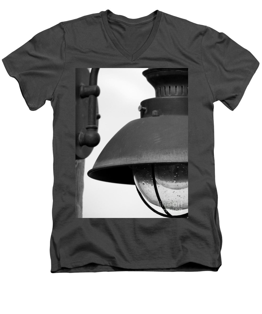 Lamppost Men's V-Neck T-Shirt featuring the photograph Lamp Post by Amanda Barcon