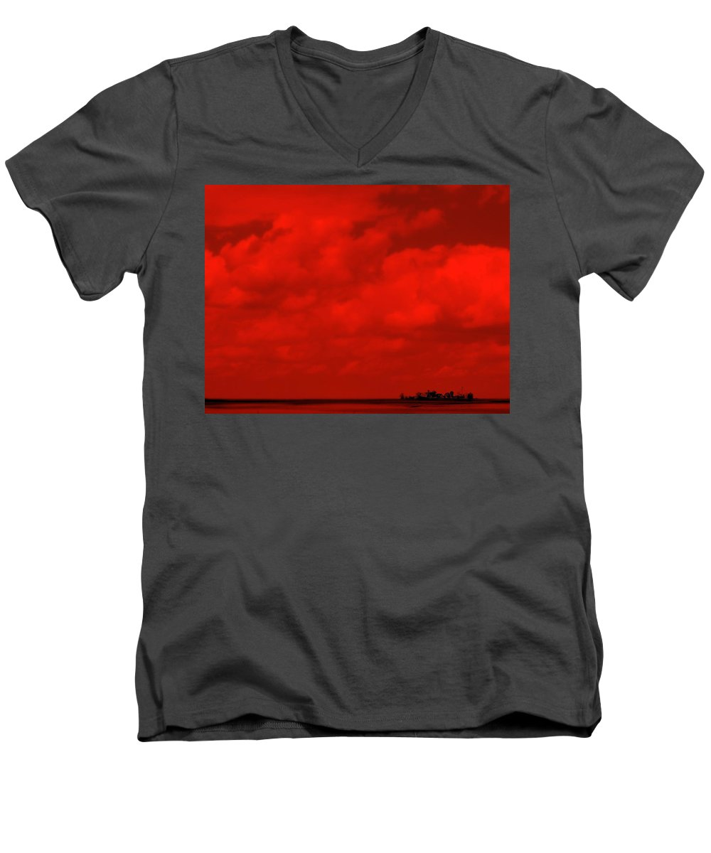 Sky Men's V-Neck T-Shirt featuring the photograph Life On Mars by Ed Smith