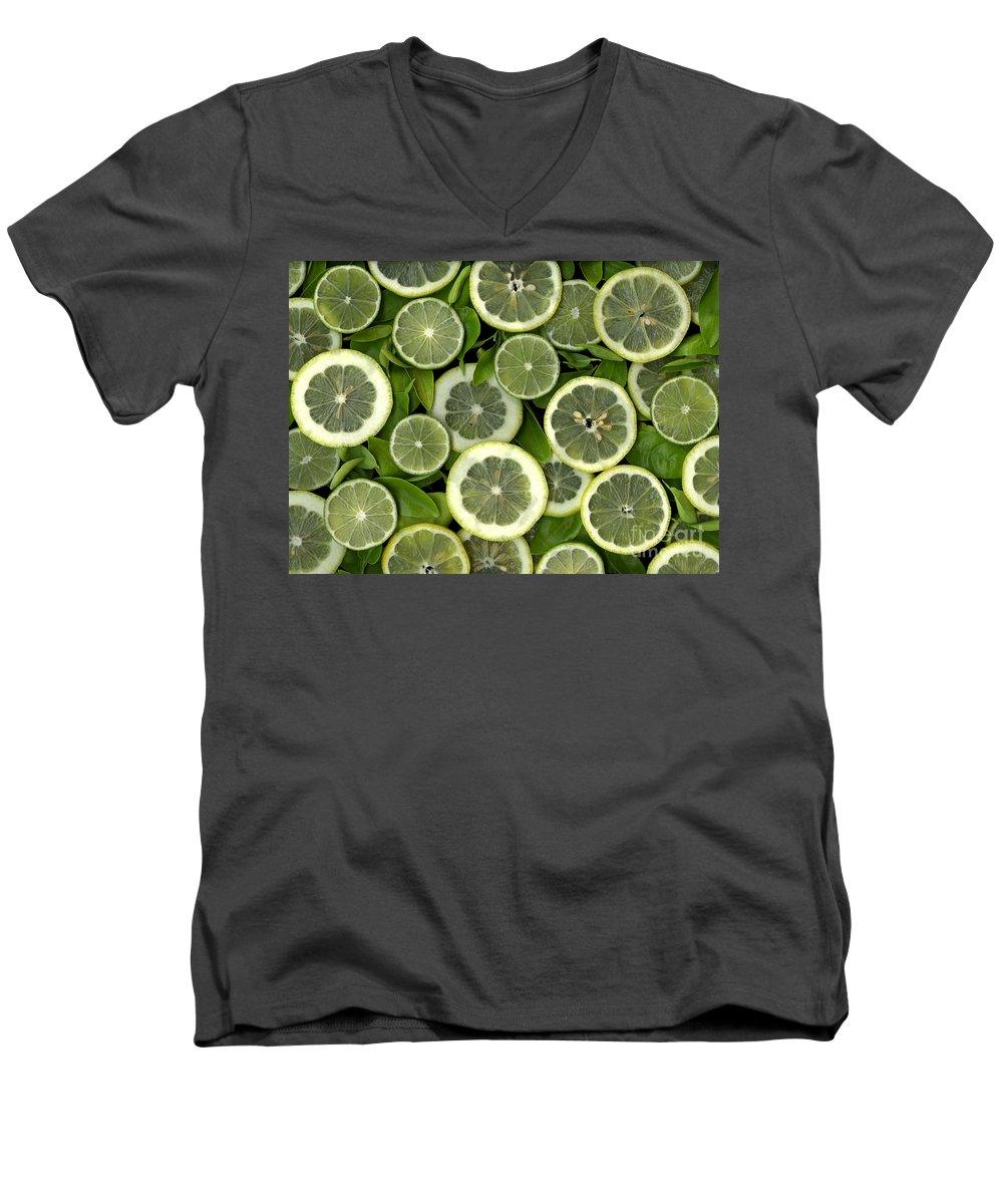 Scanography. Slanec Men's V-Neck T-Shirt featuring the photograph Limons by Christian Slanec