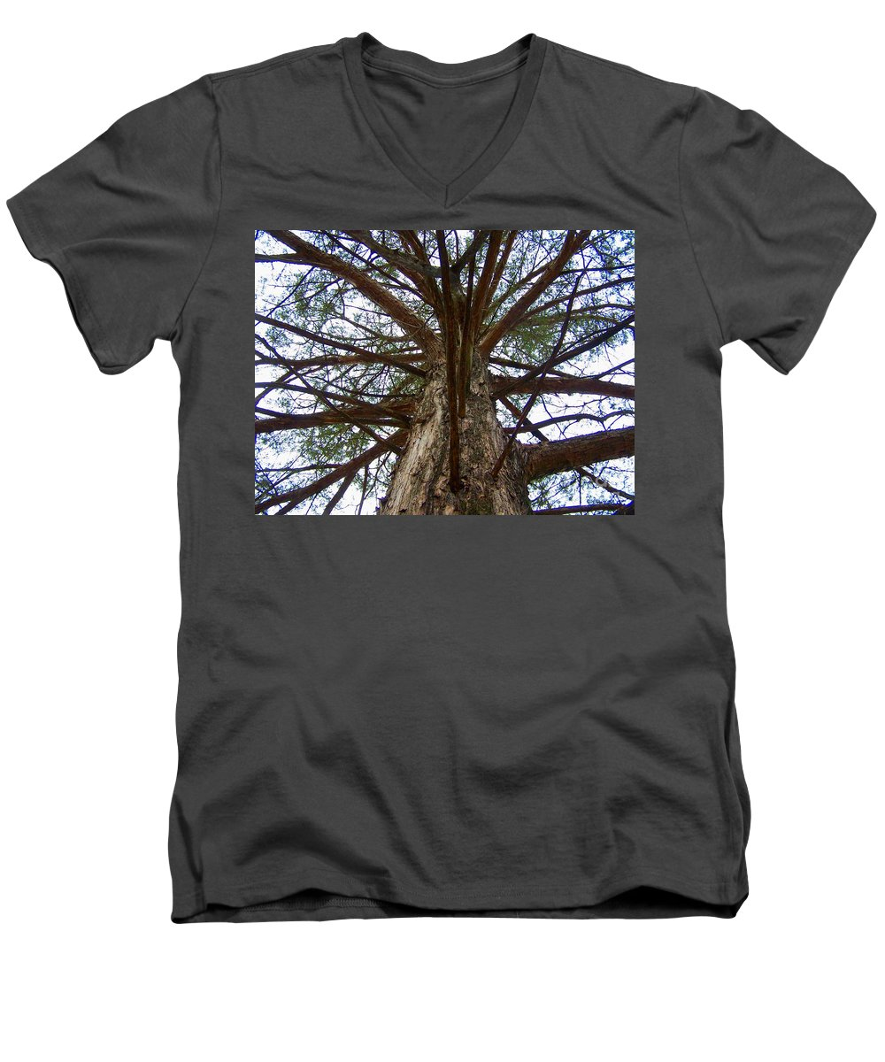 Life Men's V-Neck T-Shirt featuring the photograph Live Spokes by Nadine Rippelmeyer