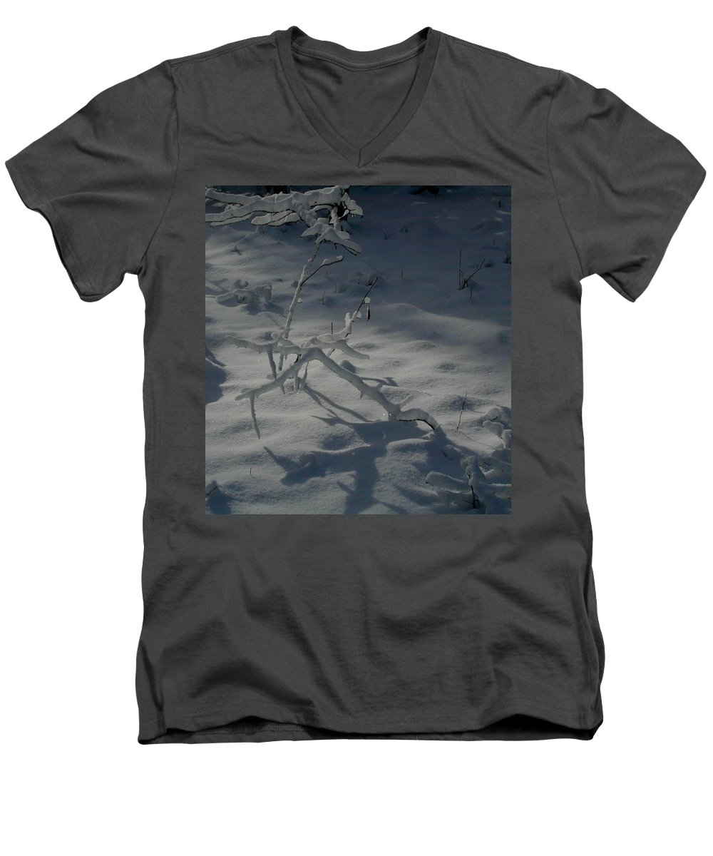 Loneliness Men's V-Neck T-Shirt featuring the photograph Loneliness In The Cold by Douglas Barnett