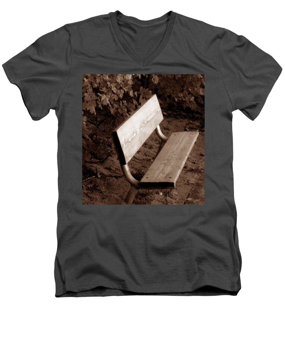 Lonliness Men's V-Neck T-Shirt featuring the photograph Lonely by Wayne Potrafka