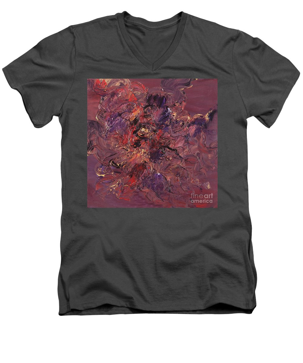 Love Men's V-Neck T-Shirt featuring the painting Love by Nadine Rippelmeyer