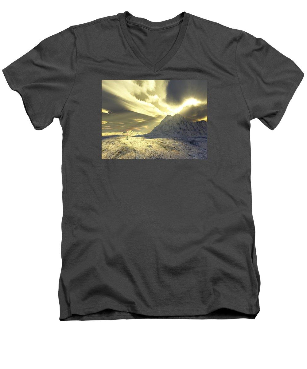 Loved Men's V-Neck T-Shirt featuring the digital art Loved - Never Forgotten by Jennifer Kathleen Phillips