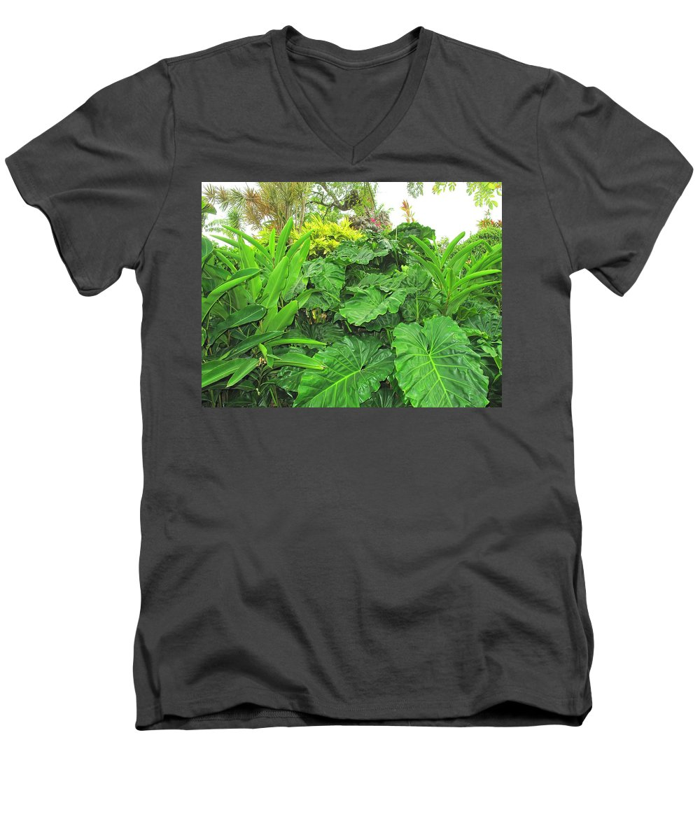 Vegetation Men's V-Neck T-Shirt featuring the photograph Lust Too by Ian MacDonald