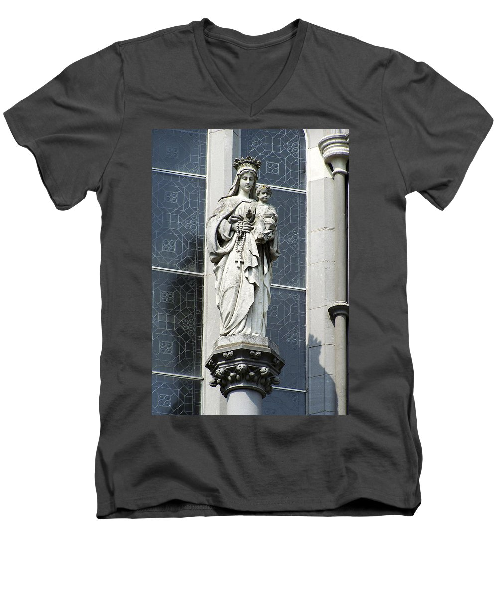 Ireland Men's V-Neck T-Shirt featuring the photograph Madonna And Child by Teresa Mucha