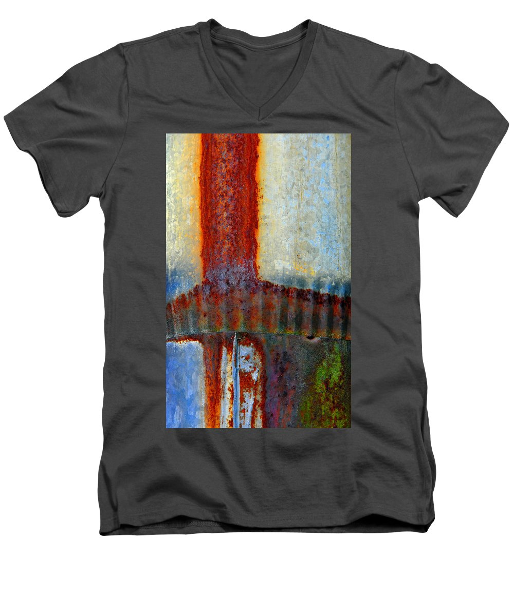 Skip Hunt Men's V-Neck T-Shirt featuring the photograph Magma by Skip Hunt