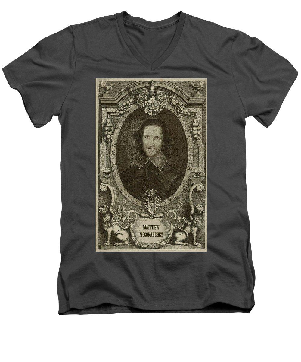 Celebrities V-Neck T-Shirts