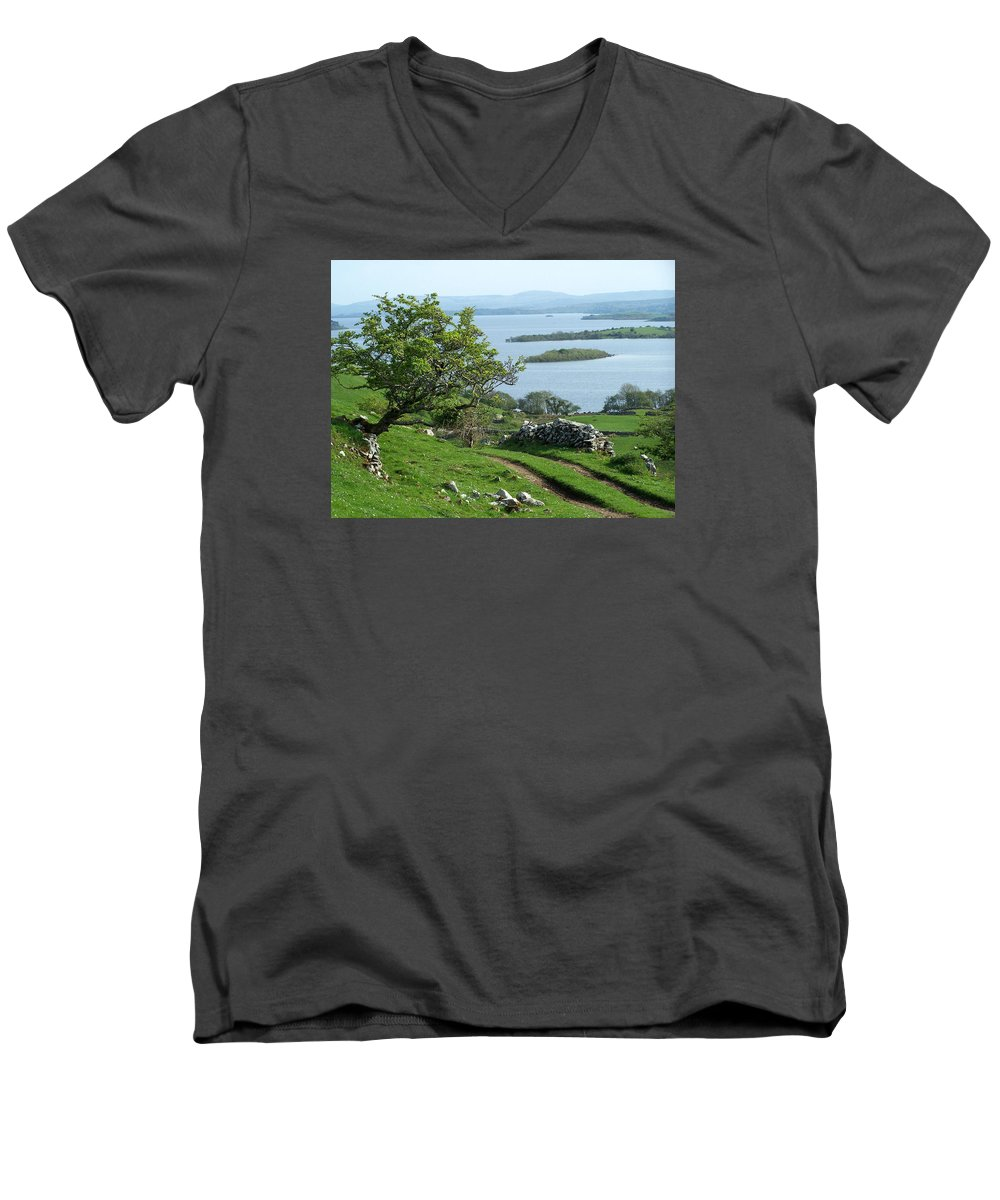 Ireland Men's V-Neck T-Shirt featuring the photograph May The Road Rise To Meet You by Teresa Mucha