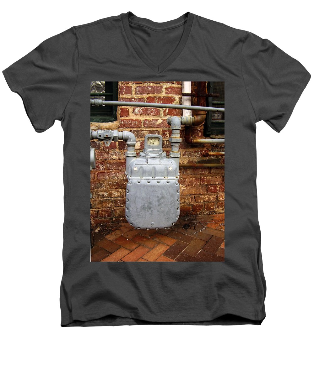 Meter Men's V-Neck T-Shirt featuring the photograph Meter II In Athens Ga by Flavia Westerwelle