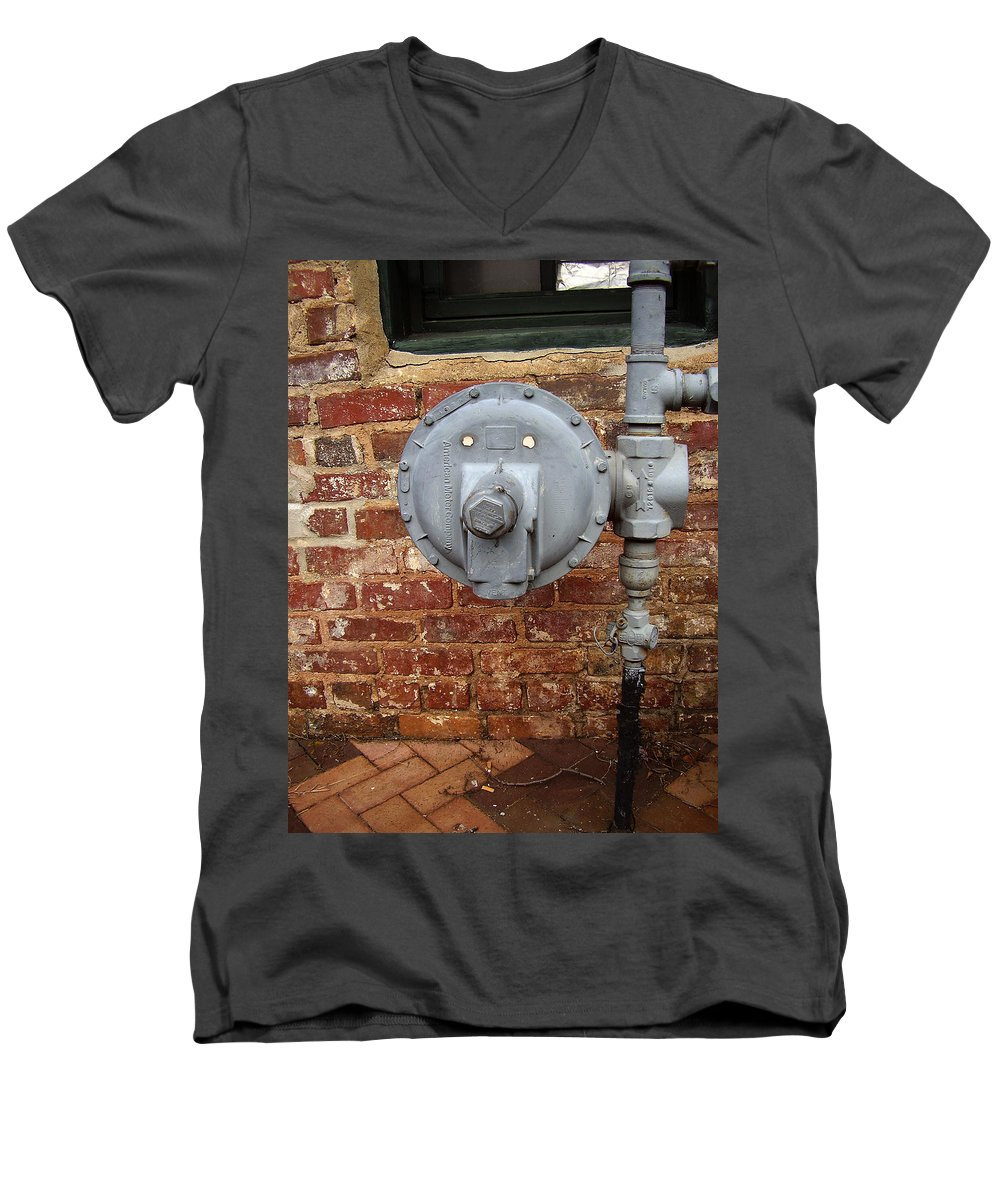 Meter Men's V-Neck T-Shirt featuring the photograph Meter In Athens Ga by Flavia Westerwelle