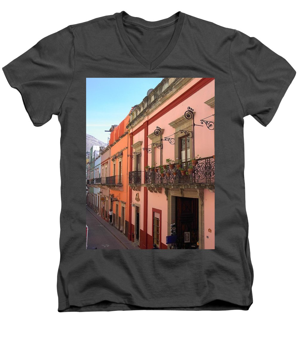 Charity Men's V-Neck T-Shirt featuring the photograph Mexico by Mary-Lee Sanders