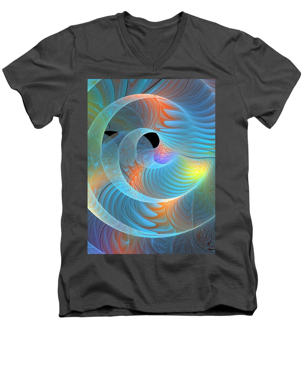 Digital Art Men's V-Neck T-Shirt featuring the digital art Moment Of Elation by Amanda Moore