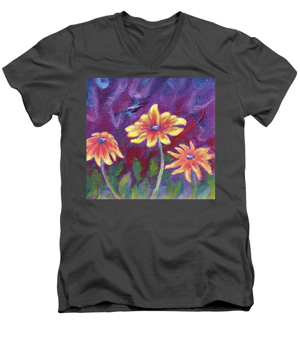 Small Acrylic Painting Men's V-Neck T-Shirt featuring the painting Monet's Small Composition by Jennifer McDuffie