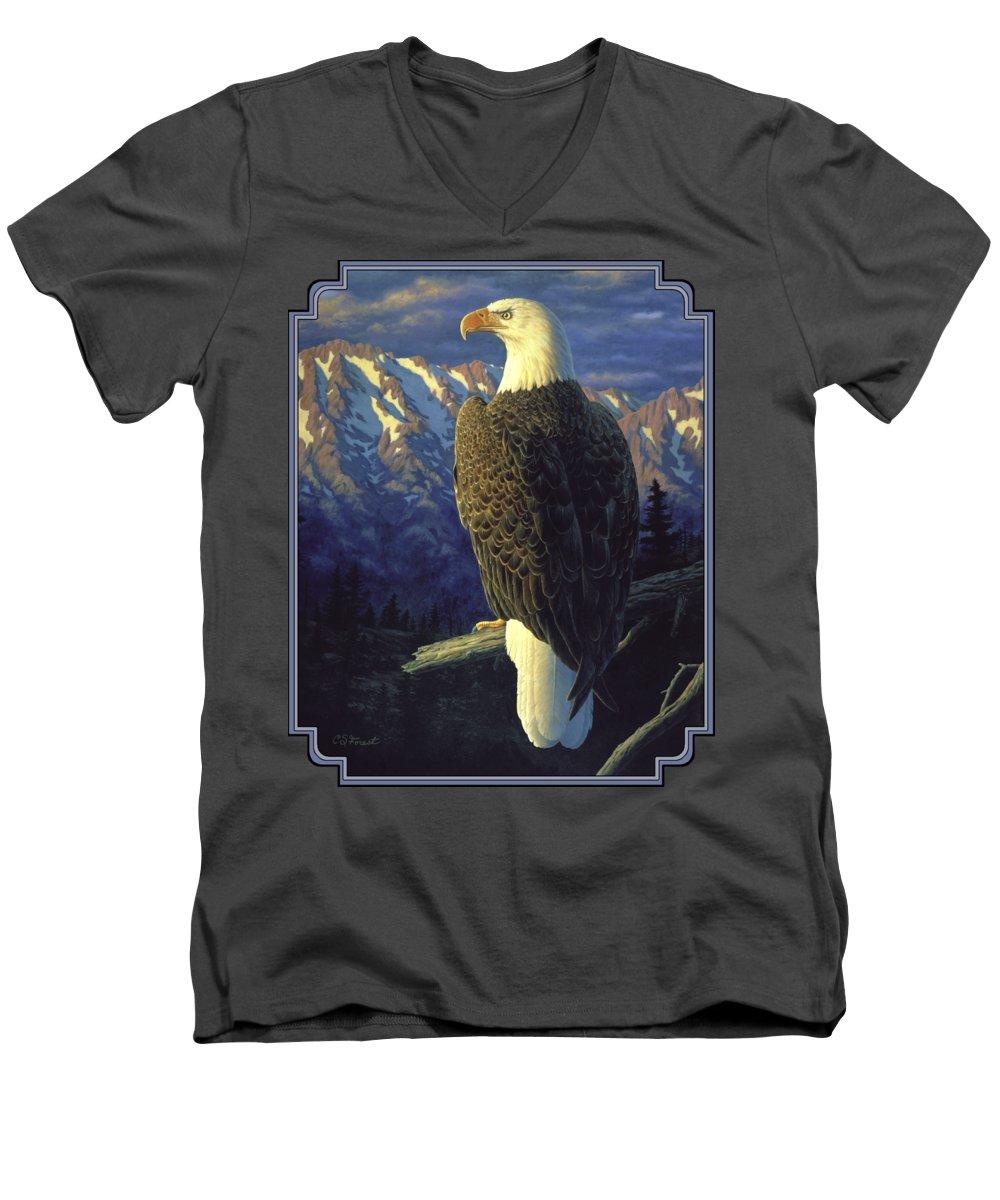 Mountain Sunset V-Neck T-Shirts