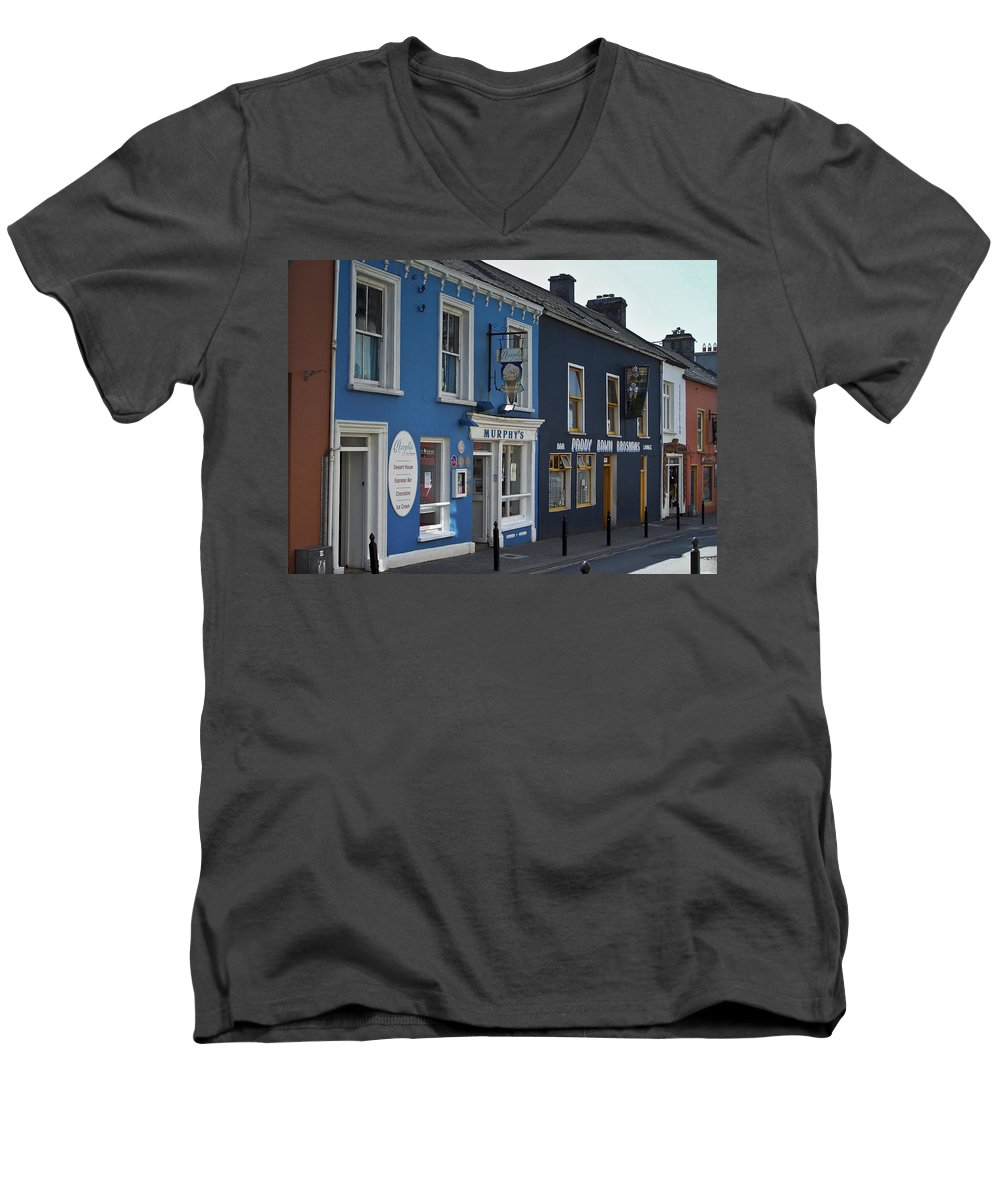 Irish Men's V-Neck T-Shirt featuring the photograph Murphys Ice Cream Dingle Ireland by Teresa Mucha
