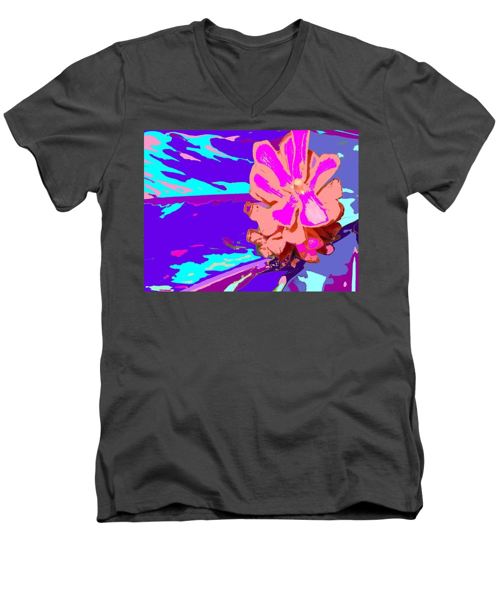 Flower Men's V-Neck T-Shirt featuring the photograph Mystical Flower by Ian MacDonald