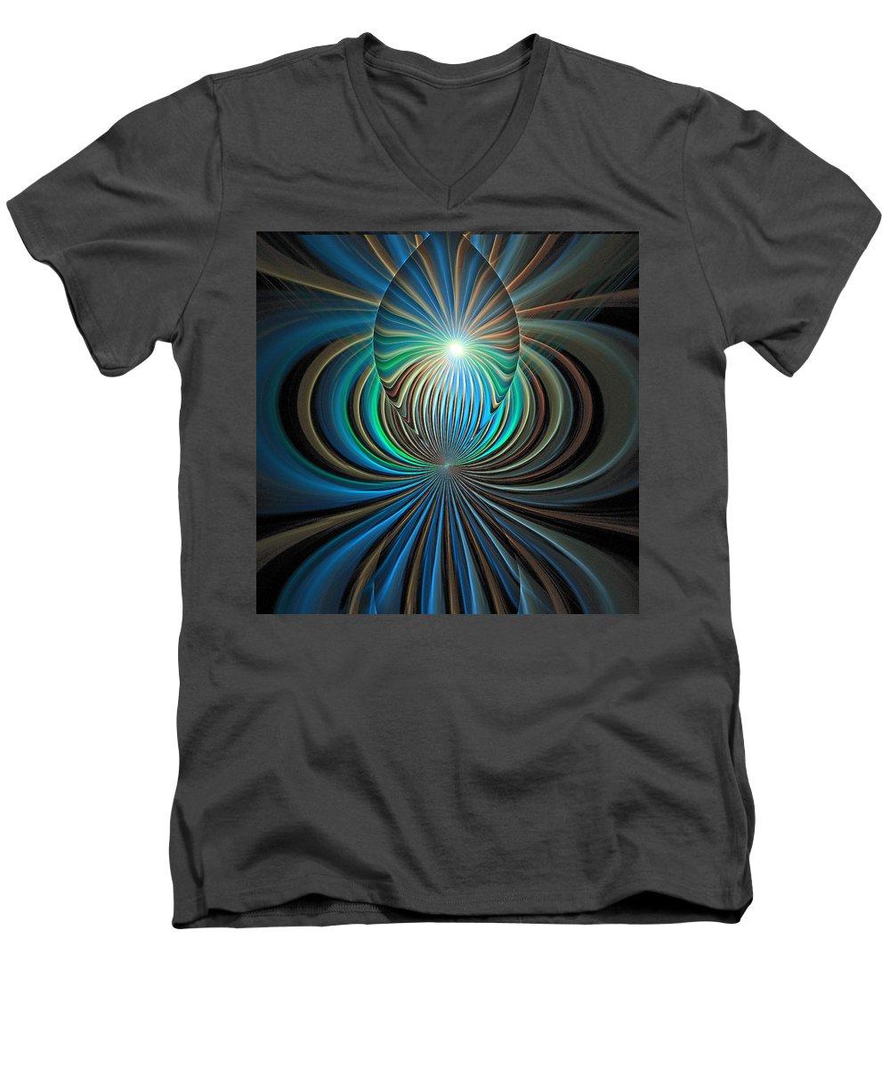 Digital Art Men's V-Neck T-Shirt featuring the digital art Namaste by Amanda Moore