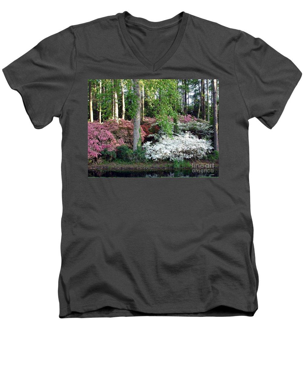 Landscape Men's V-Neck T-Shirt featuring the photograph Nature 2 by Shelley Jones