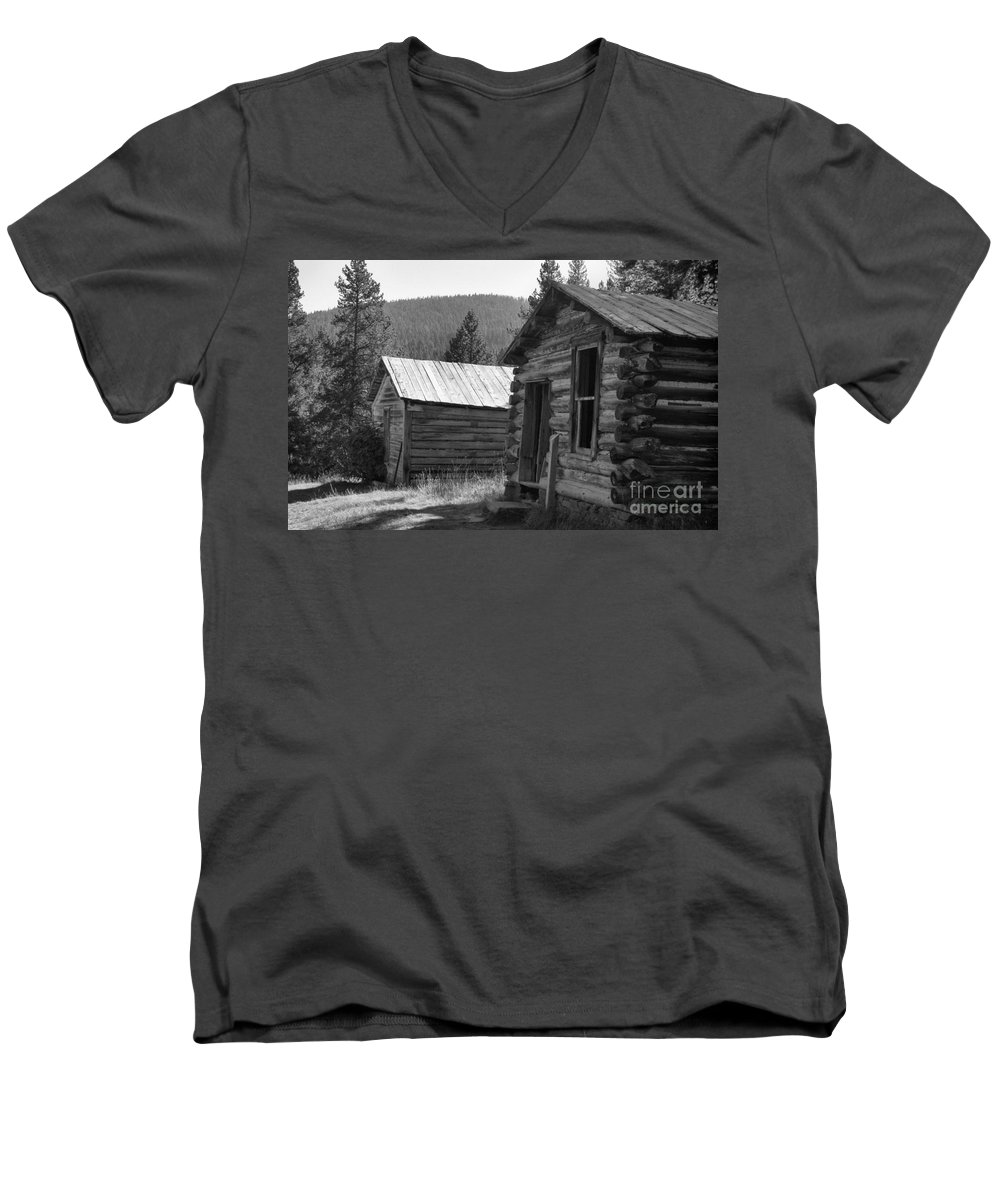 Abandoned Men's V-Neck T-Shirt featuring the photograph Neighbors by Richard Rizzo