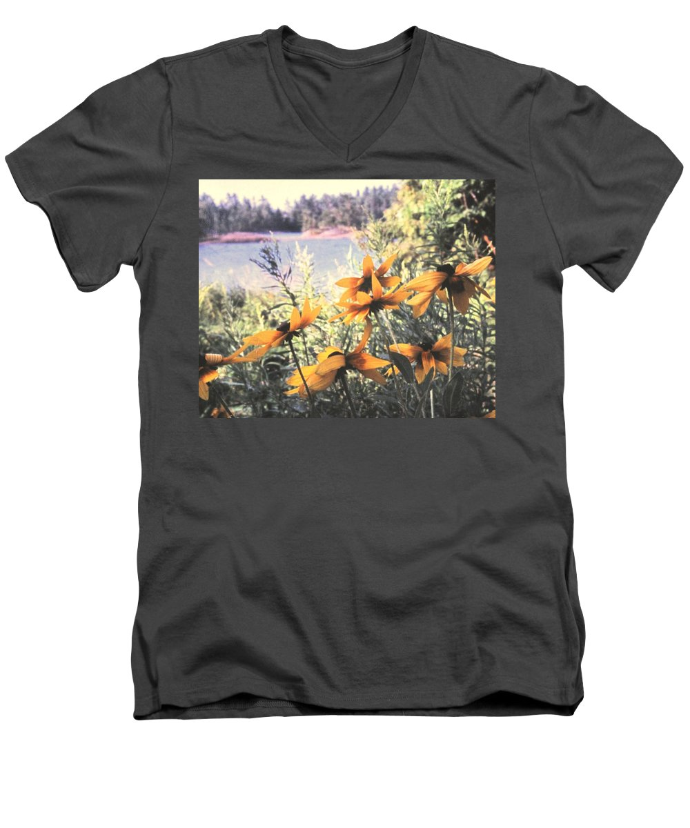 North Channel Men's V-Neck T-Shirt featuring the photograph North Channel Beauties by Ian MacDonald