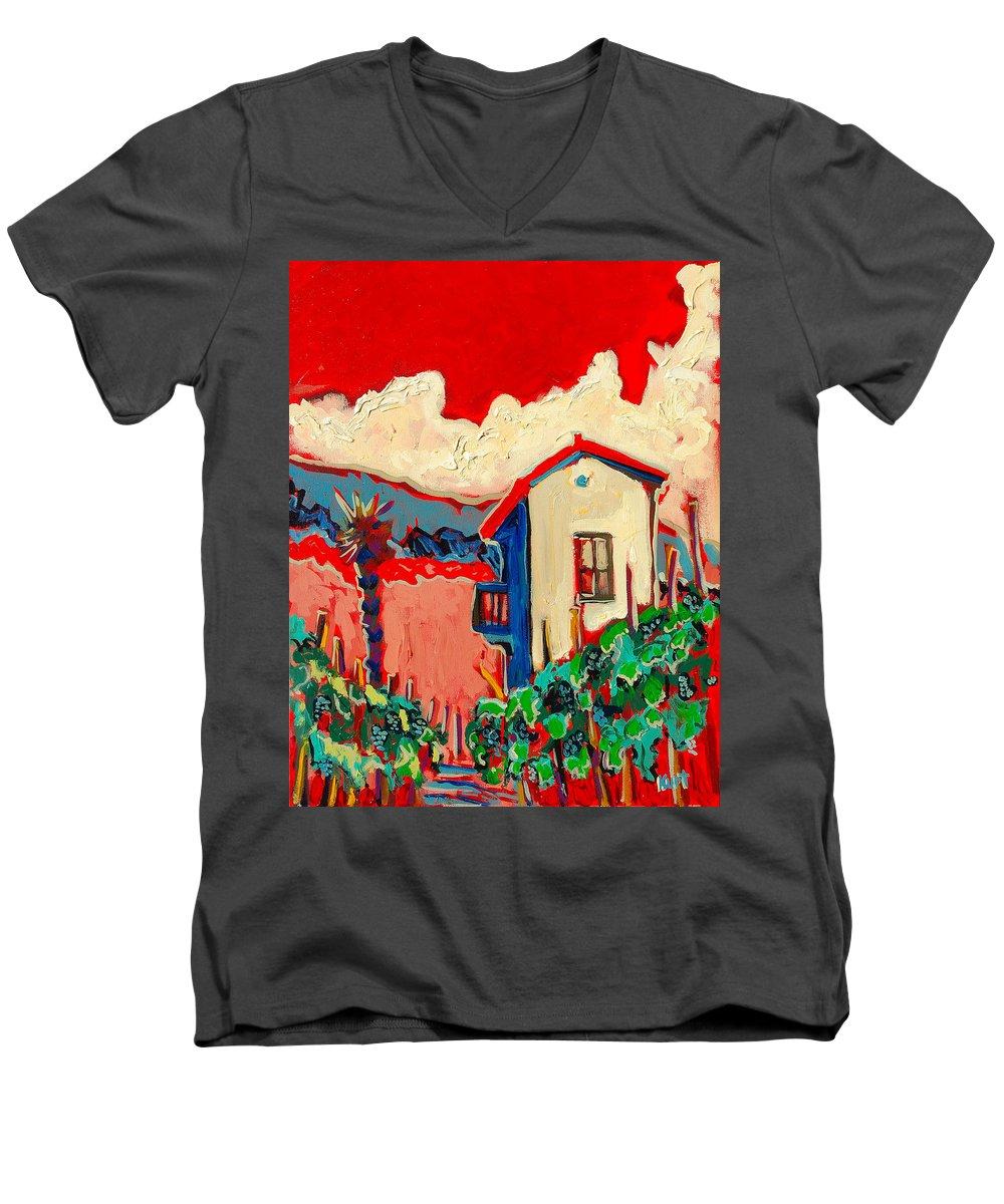 Tuscany Men's V-Neck T-Shirt featuring the painting Notare by Kurt Hausmann