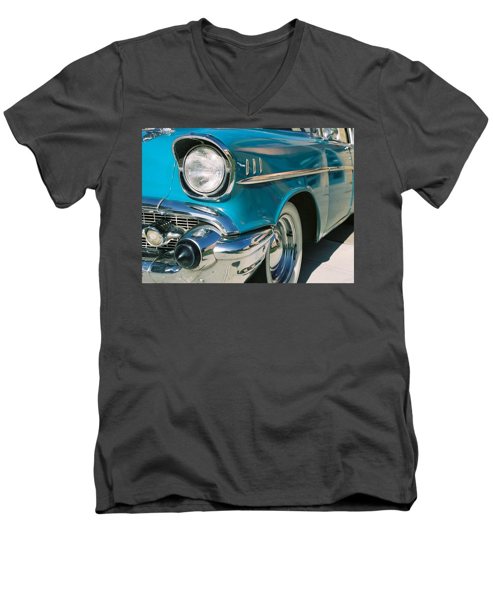 Chevy Men's V-Neck T-Shirt featuring the photograph Old Chevy by Steve Karol