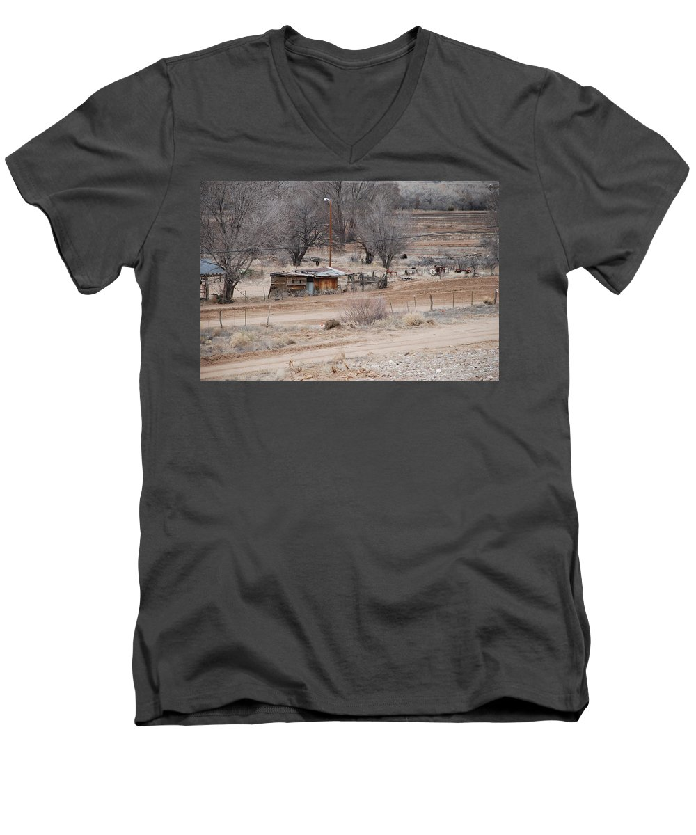 House Men's V-Neck T-Shirt featuring the photograph Old Ranch House by Rob Hans