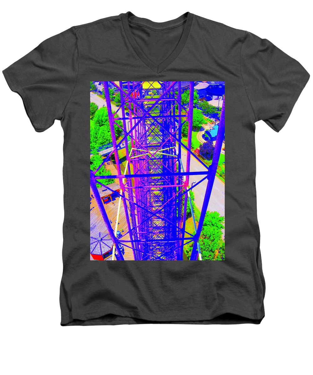 Still Life Men's V-Neck T-Shirt featuring the photograph On Top Of The World by Ed Smith