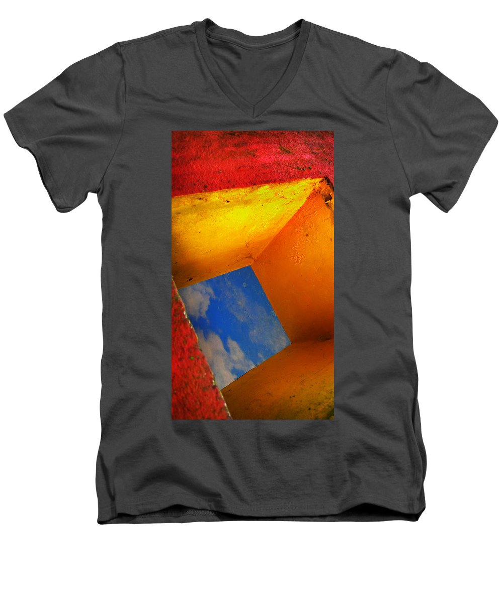 Skip Hunt Men's V-Neck T-Shirt featuring the photograph Over The Rainbow by Skip Hunt