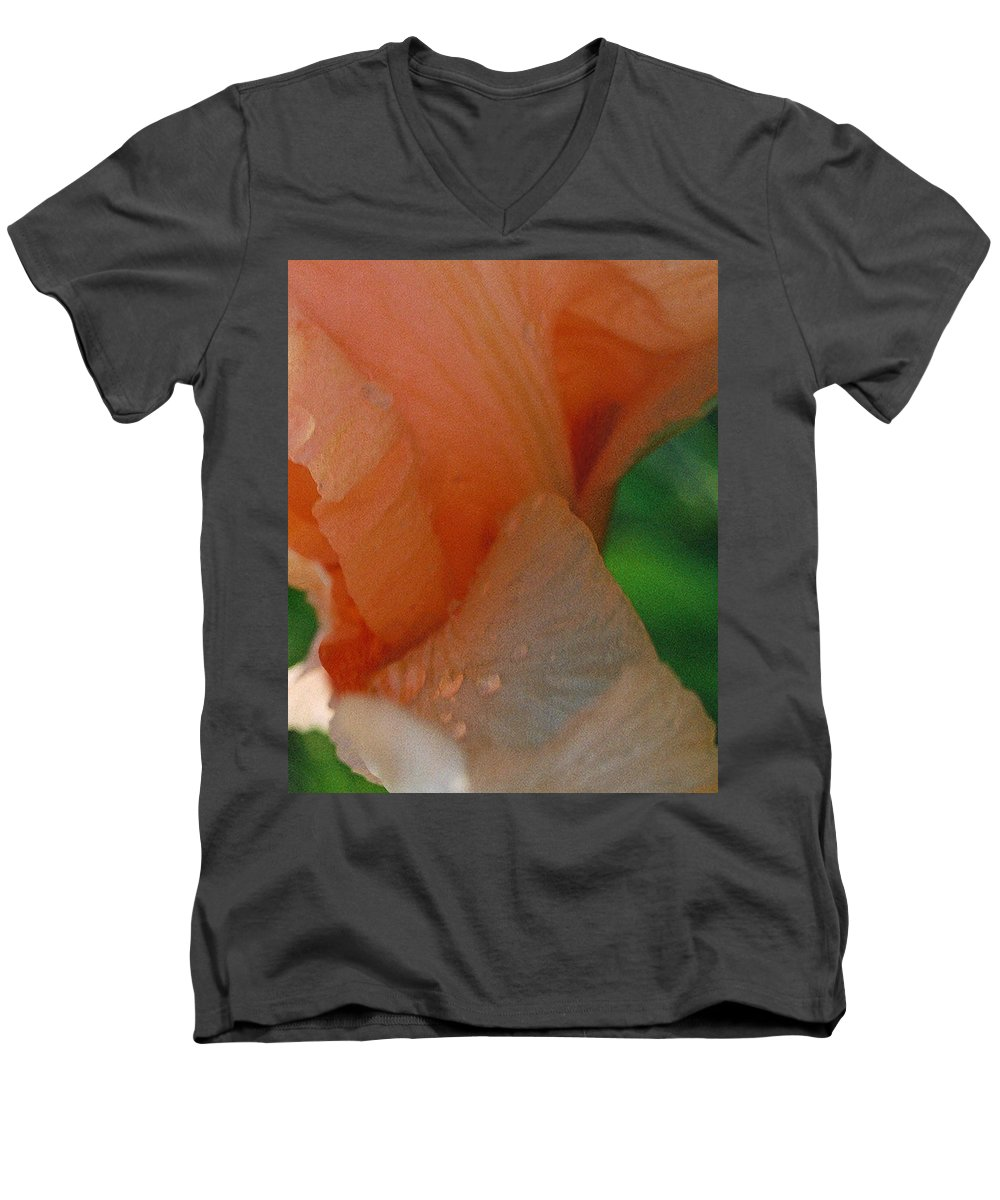 Abstract Men's V-Neck T-Shirt featuring the photograph Panel One From Iris by Steve Karol