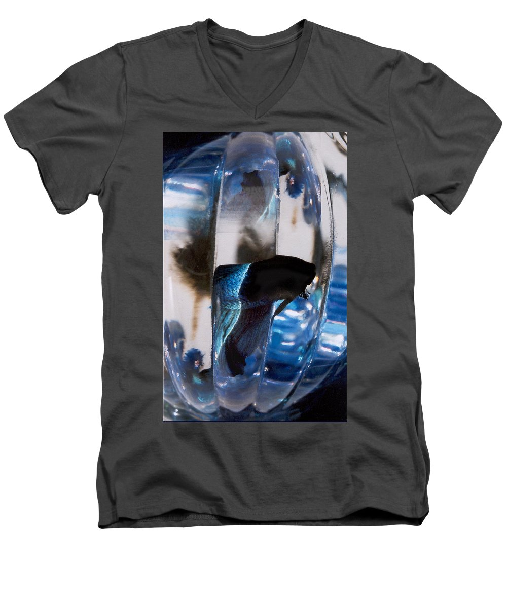 Abstract Men's V-Neck T-Shirt featuring the photograph panel three from Swirl by Steve Karol