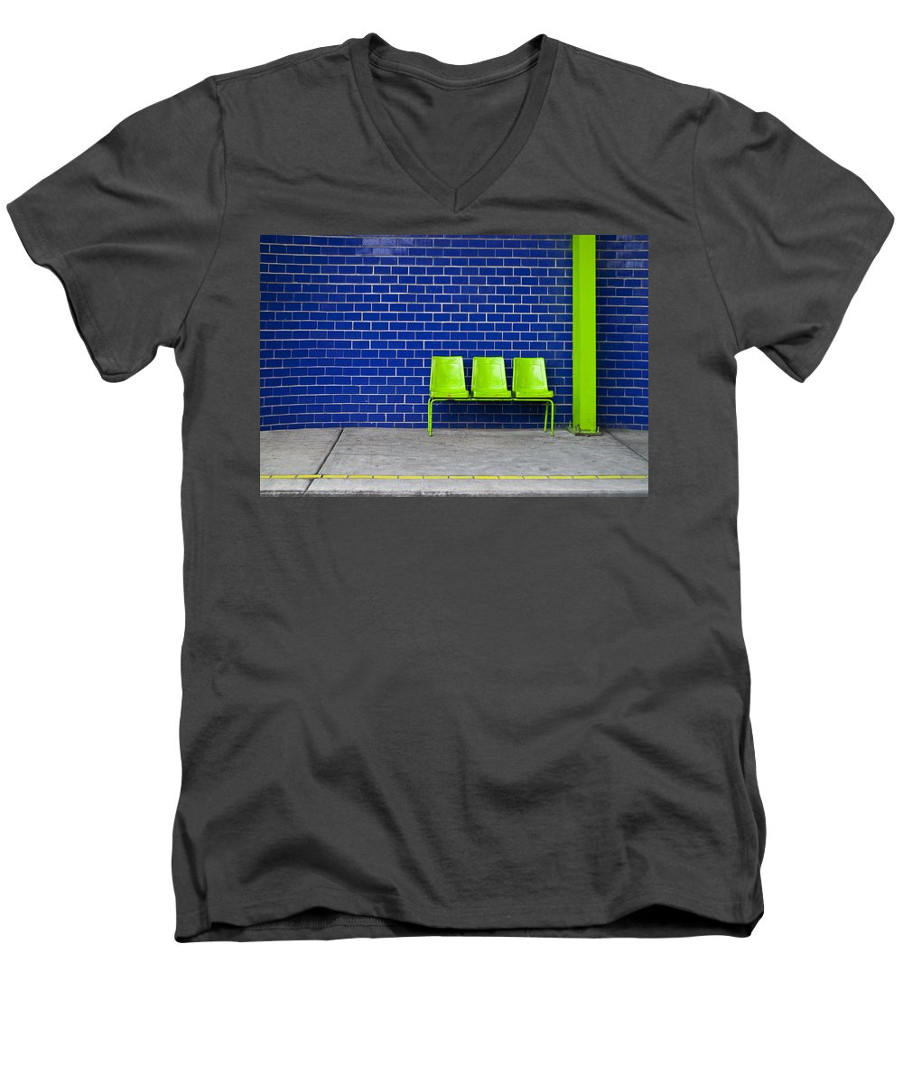 Green Men's V-Neck T-Shirt featuring the photograph Paradaxochi by Skip Hunt