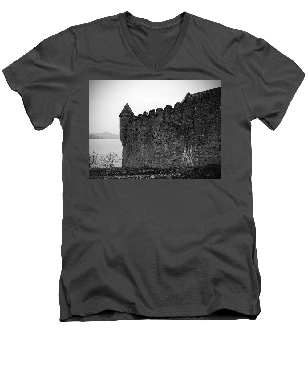 Ireland Men's V-Neck T-Shirt featuring the photograph Parkes Castle County Leitrim Ireland by Teresa Mucha