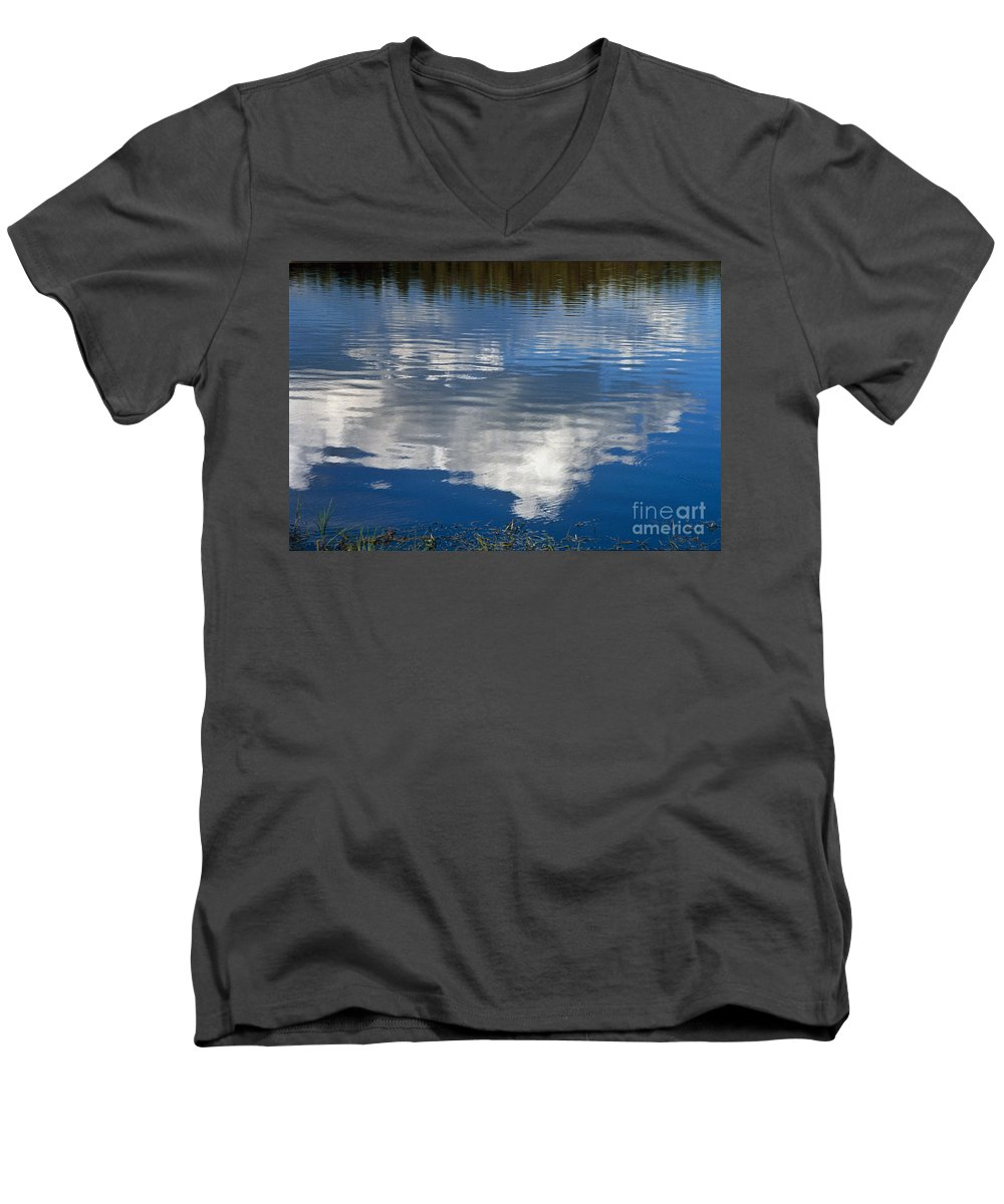 Landscape Men's V-Neck T-Shirt featuring the photograph Peace by Kathy McClure
