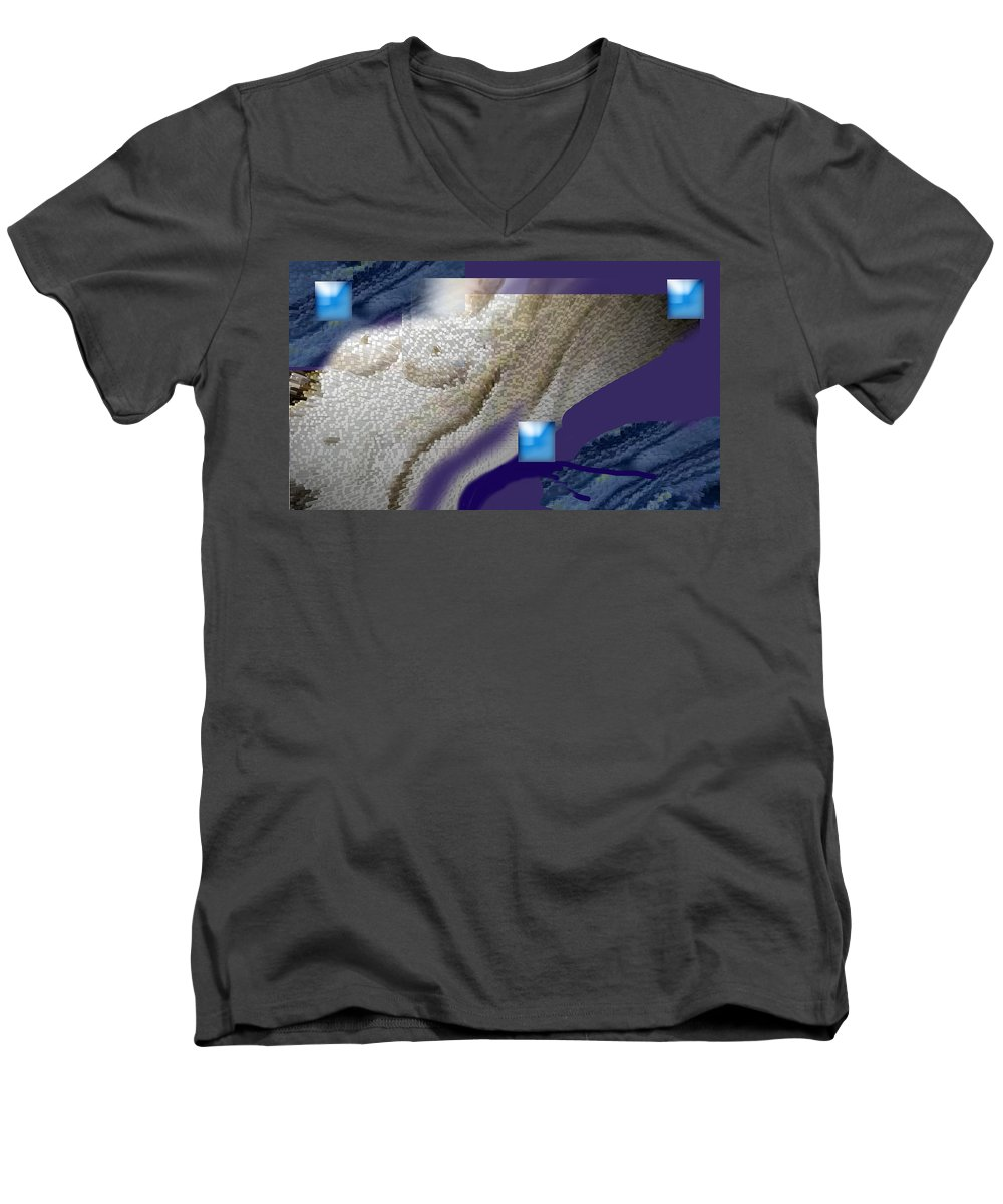 Abstract Men's V-Neck T-Shirt featuring the digital art Prelude To A Dream by Steve Karol