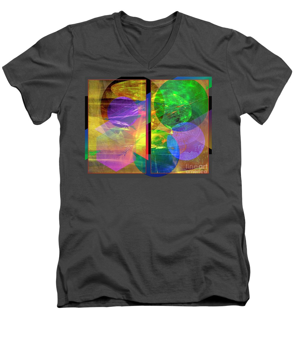 Progressive Intervention Men's V-Neck T-Shirt featuring the digital art Progressive Intervention by John Beck