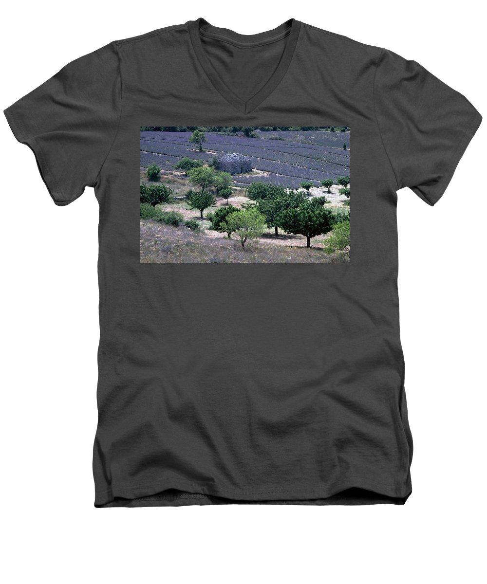 Provence Men's V-Neck T-Shirt featuring the photograph Provence by Flavia Westerwelle