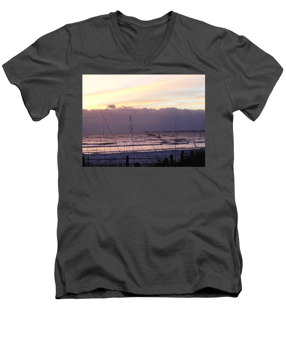 Landscape Men's V-Neck T-Shirt featuring the photograph Purple Haze by Ed Smith